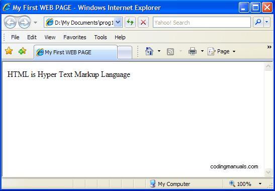 Simple HTML program